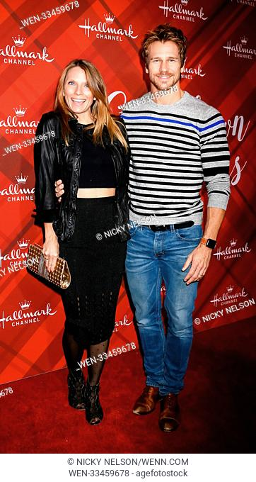 Hallmark's 'Christmas at Holly Lodge' screening at 189 The Grove Drive - Arrivals Featuring: Charity Walden Joiner, Rusty Joiner Where: Los Angeles, California