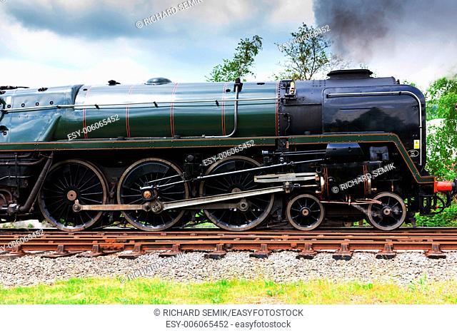 steam locomotive, East Lancashire Railway, Lancashire and Greater Manchester, England