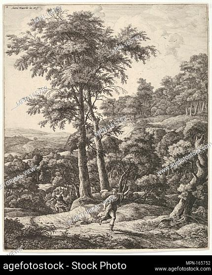Landscape with Apollo and Daphne, from the Series of Six Mythological Scenes. Artist: Anthonie Waterloo (Dutch, Lille 1609-1690 Utrecht); Date: 17th century;...