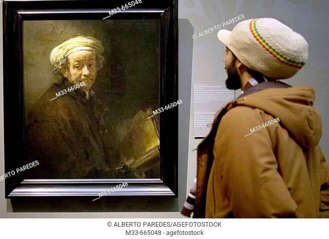 Netherlands - Noord Holland - Amsterdam - The painting by Rembrandt 'Selfportrait as Saint Paul' in the Rijksmuseum