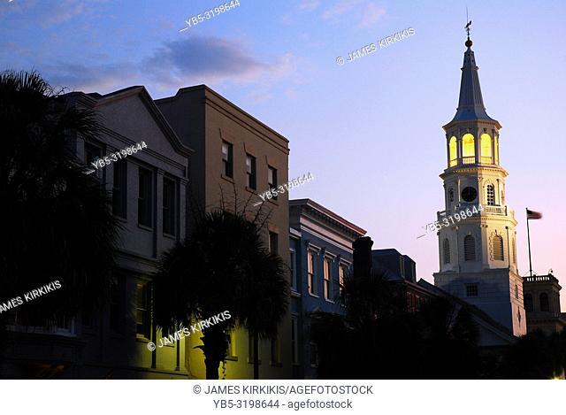 Dusk on historic Charleston