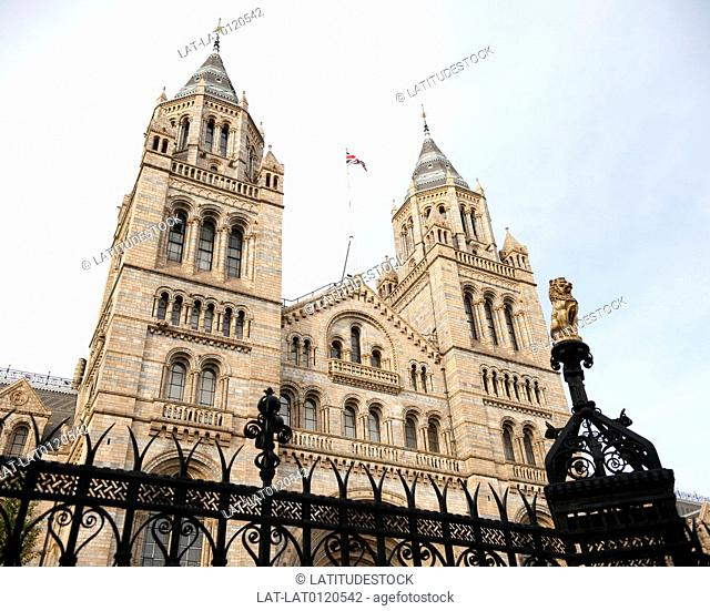 The Natural History Museum has an ornate terracotta facade by Gibbs and Canning typical of high Victorian architecture,and the main building was designed by...