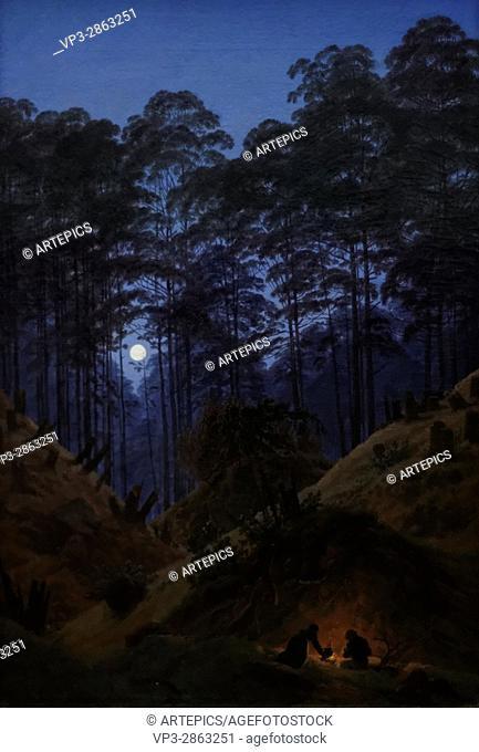 Caspar David Friedrich - Deep in the Forest by Moonlight - 1825 - XIX th century - German school - Alte Nationalgalerie - Berlin