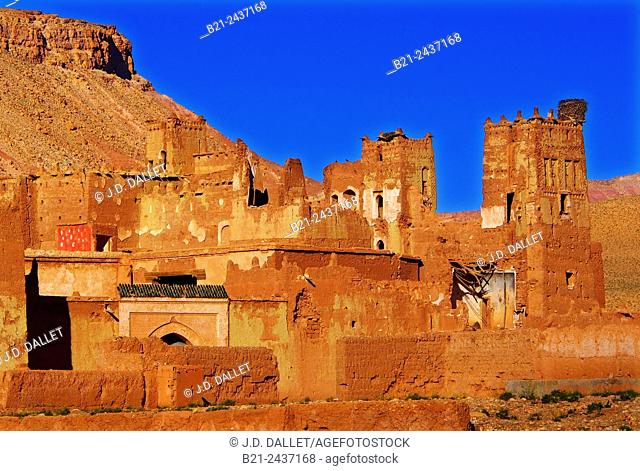 Kasbah of Achahoud near Aït Benhaddou, Morocco