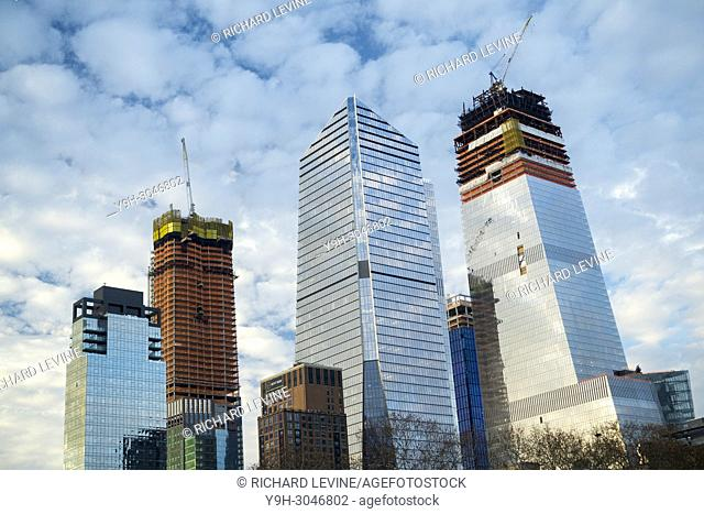 10 Hudson Yards, center, and other Hudson Yards development in New York on Sunday, December 24, 2017