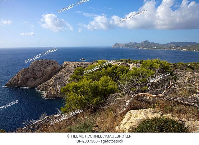 Coast near the lighthouse of Cala Ratjada, Majorca, Balearic islands, Spain, Mediterranean Sea, Europe