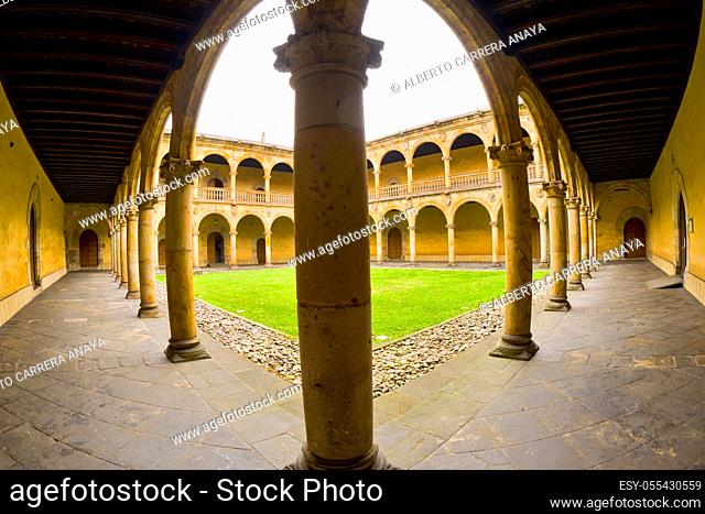Coutyard, Santcti Spiritus University, 16th Century Renaissance Style, Old Town, Oñati, Oñate, Guipúzcoa, Basque Country, Spain, Europe