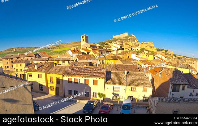 Panoramic View, San Esteban de Gormaz, Soria, Castilla y León, Spain, Europe
