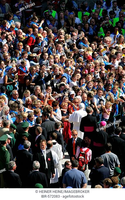 Papal visit of Benedikt XVI, Altoetting, Bavaria, Germany