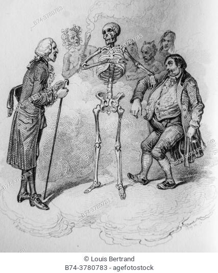 death, florian fables illustrated by victor adam, publisher delloye, desme 1838