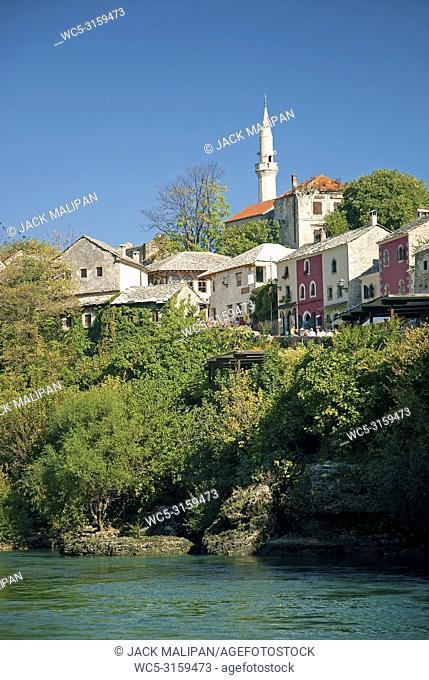 view of mostar in bosnia herzegovina