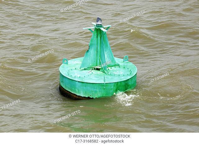 Maliuc, Vulturu, shipping sign, buoyage, maritime buoyage system A in Europe, coming from sea the green buoy is located right in the fairway on the starboard...