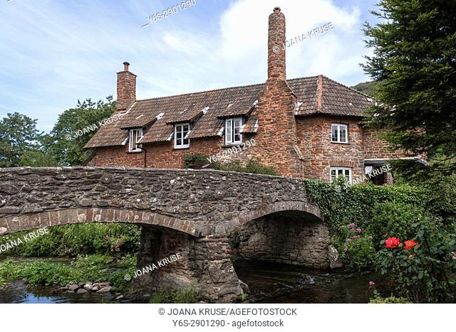 packhorse bridge, Allerford, Somerset, Exmoor, England