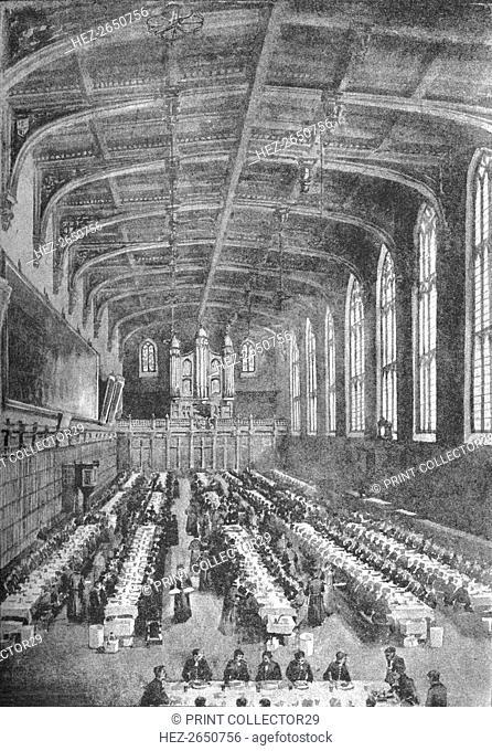 'Christ's Hospital, Great Hall - Boys at Dinner', 1891. Artist: William Luker