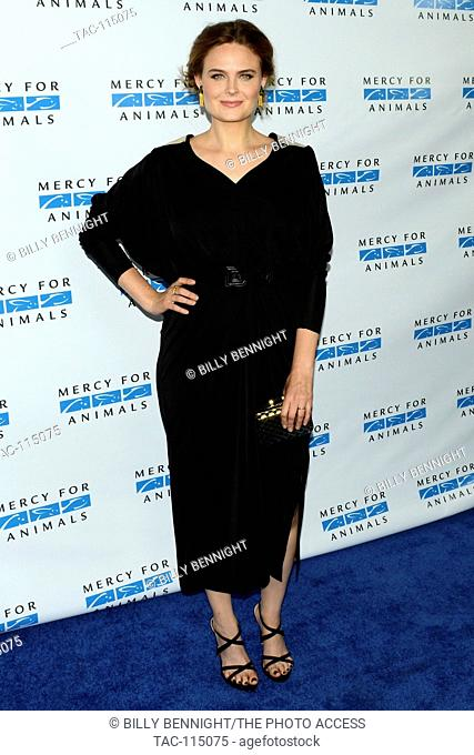 Emily Deschanel attends the Mercy For Animals Hidden Heroes Gala at Unici Casa on August 29th, 2015 in Los Angeles California