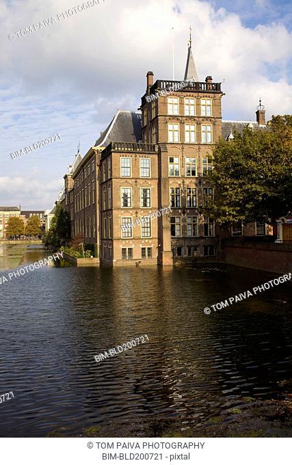Dutch building on pond