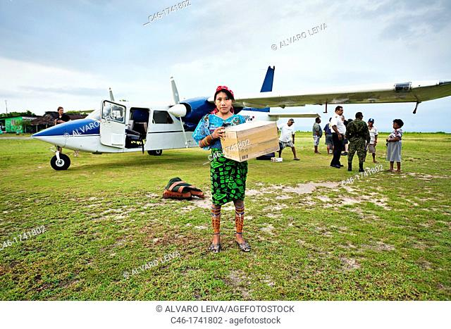 Porvenir island, Airport, San Blas Islands also called Kuna Yala Islands, Panama