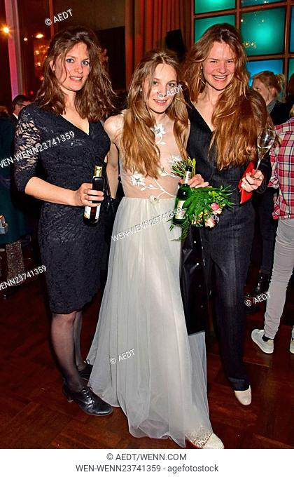 Aftershow party for the premiere Wild at Kino International movie theatre. Featuring: Ninja Stangenberg, Lilith Stangenberg, Stella Stangenberg Where: Berlin