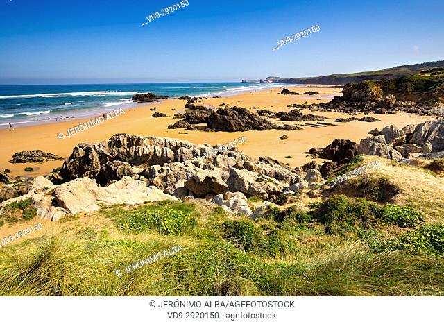 Canallave beach, Liencres Natural Park. Cantabrian Sea. Santander, Cantabria Spain. Europe