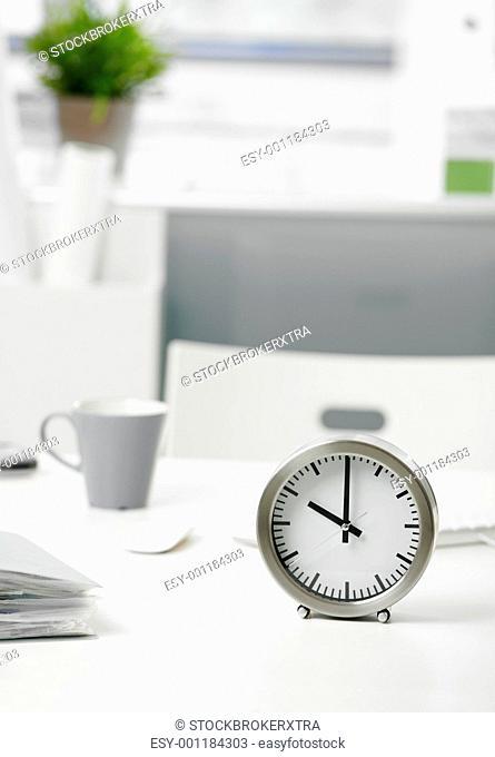 Clock on office desk