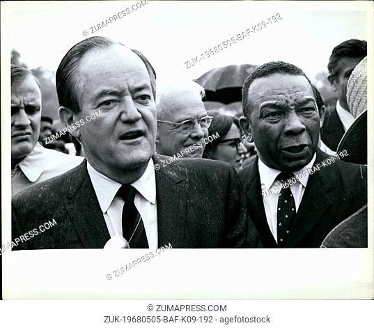 May 05, 1968 - Humphrey W/mayor of Washington? at Resurrection city Washington DC, may 1968. Credit:Chester Sheard (Credit Image: © Keystone Press...