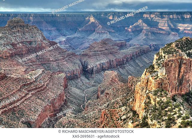 View from Cape Royal Point, North Rim, Grand Canyon National Park, UNESCO World Heritage Site, Arizona, USA