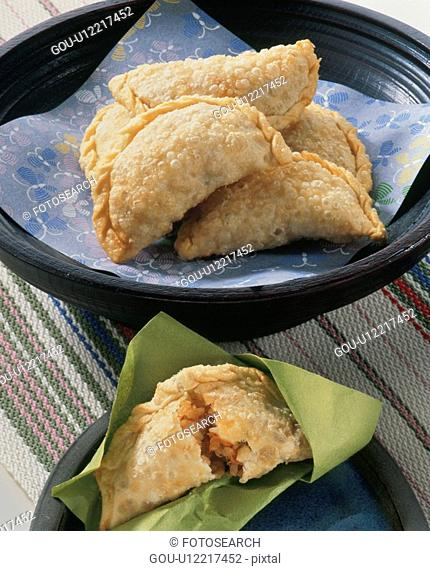 Fried Gyoza Containing Boiled Rice
