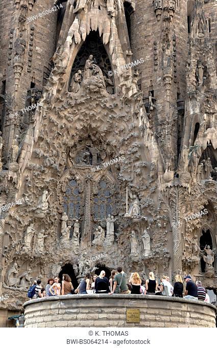 Barcelona, cathedral Sagrada Familia, architect Antonio Gaudi, Spain, Catalania, Barcelona