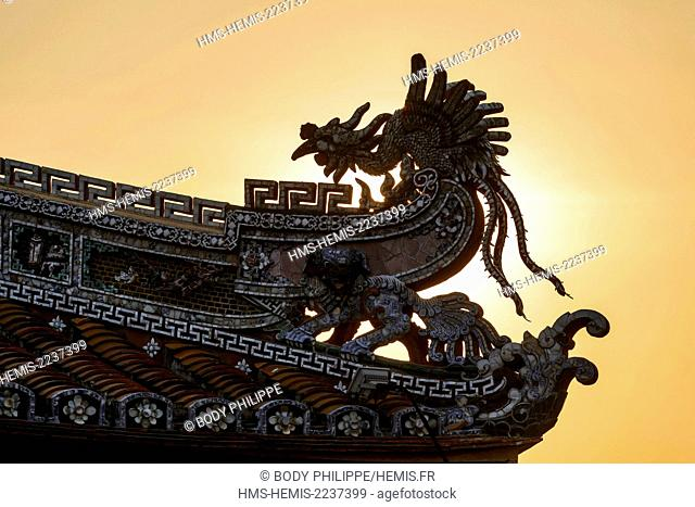 Vietnam, Thua Thien Hue province, Hue, the Forbidden City or Purple City in the heart of the Imperial City, listed as World Heritage site by UNESCO
