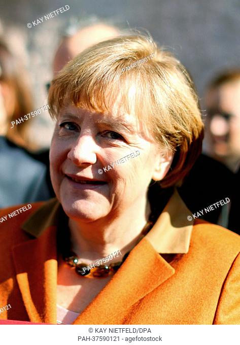 German Chancellor Angela Merkel visits the national park Goereme in Turkey, 25 February 2013. Merkel then travels further to Ankara
