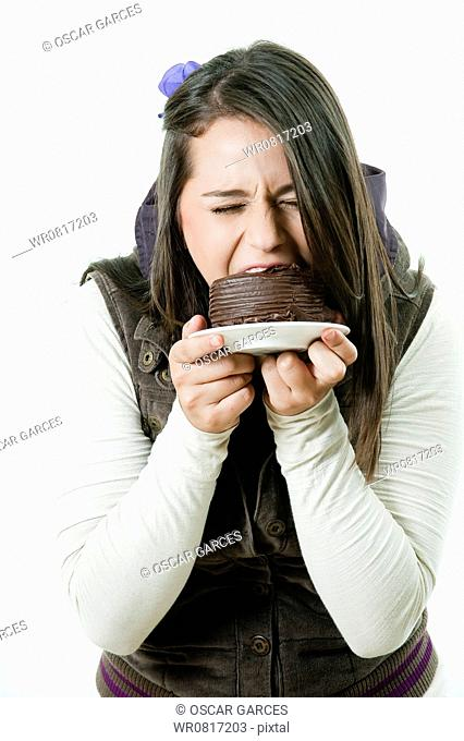Girl with her Cake