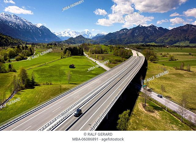 Germany, Bavaria, highway A95 to Garmisch-Partenkirchen