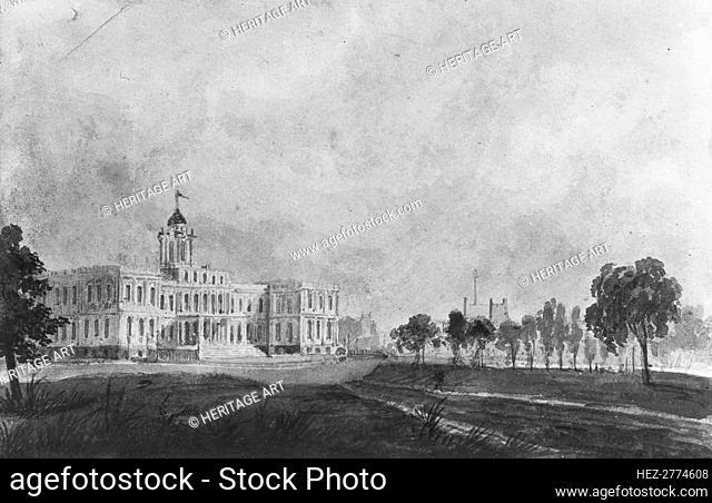 The New City Hall, New York, 1811-ca. 1813. Creator: Pavel Petrovic Svin'in