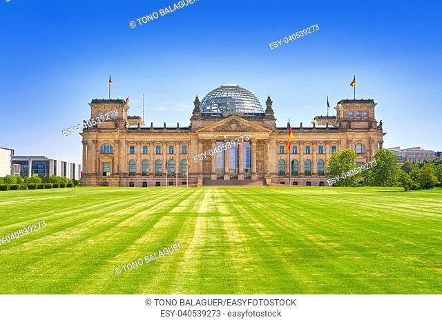 The Reichstag Berlin building Deutscher Bundestag in Germany
