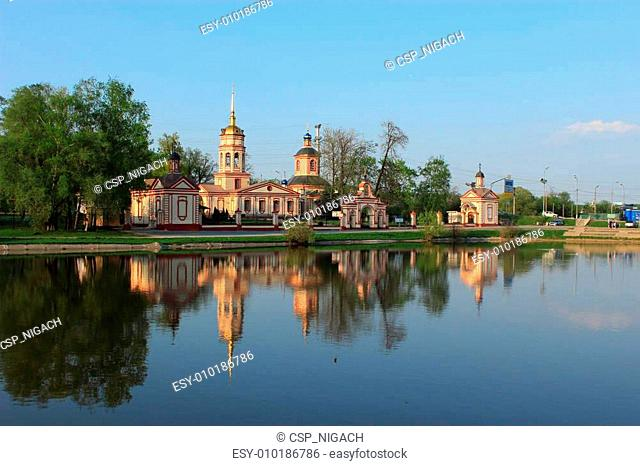 Temple of the Exaltation of the Holy Cross. Moscow. Russia