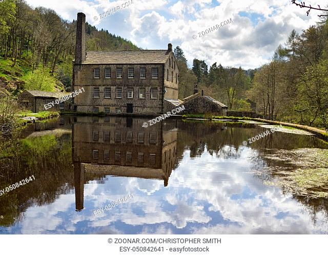 Gibson Mill in Hardcastle Crags nature park, Hebden Bridge