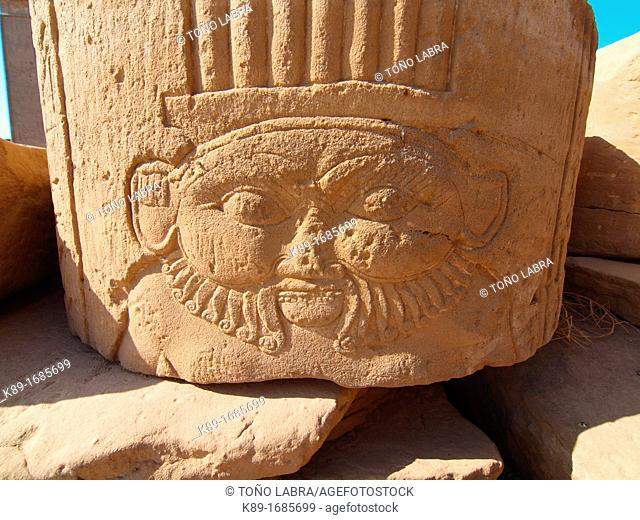 Dendera temple dedicated to Hathor goddess. Upper Egypt