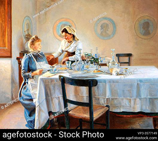 Tom-Petersen Peter - Efter Frokosten - Danish School - 19th and Early 20th Century