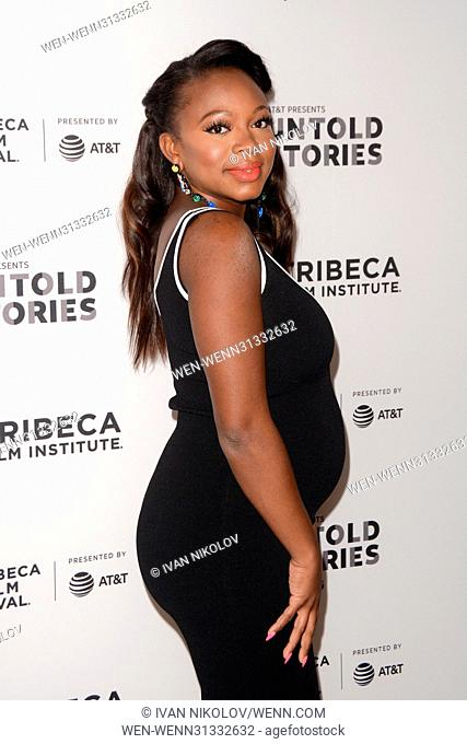 AT&T and Tribeca presents 'Untold Stories' an Inclusive Film Program in collaboration with Tribeca - Red Carpet Arrivals at Thalassa Featuring: Naturi Naughton...