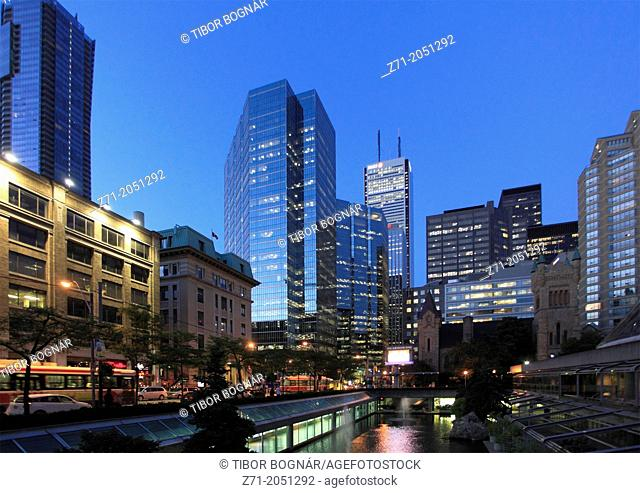 Canada, Ontario, Toronto, Financial District, skyline,
