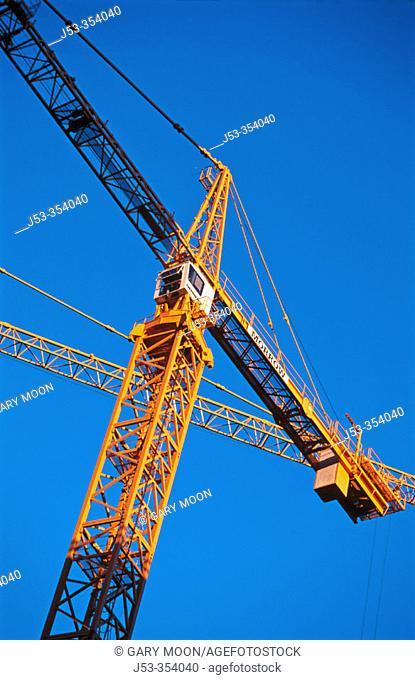 Tower crane. San Francisco, California. USA