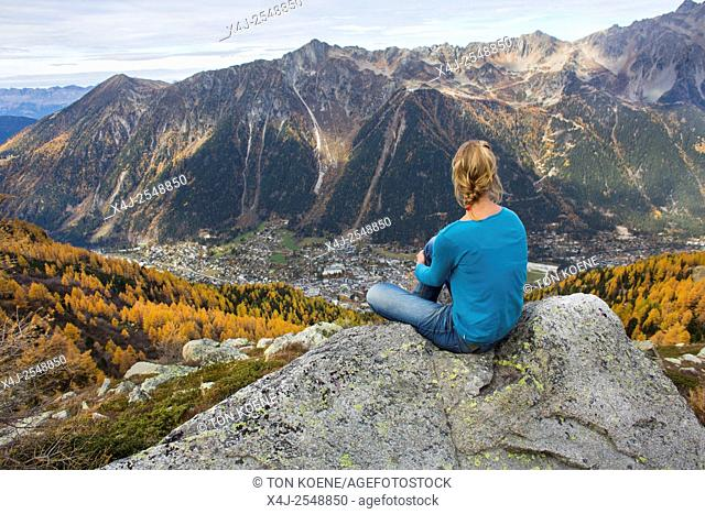 Outdoor activity in the French Alps