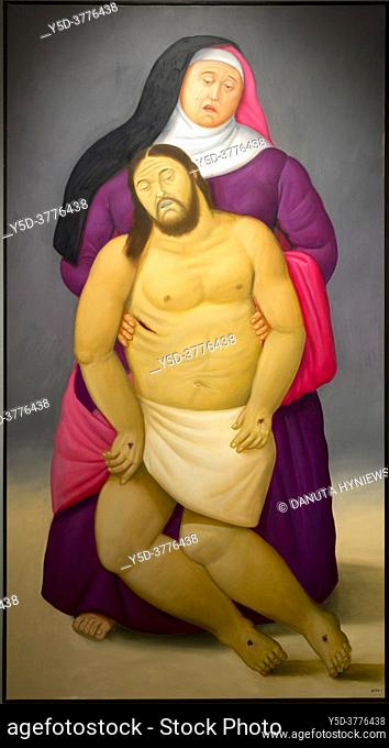 Fernando Botero, Via Crucis or The way of the Cross, Exhibition in Royal Palace of Palermo - Norman Palace, Palermo, Sicily, Italy, Europe