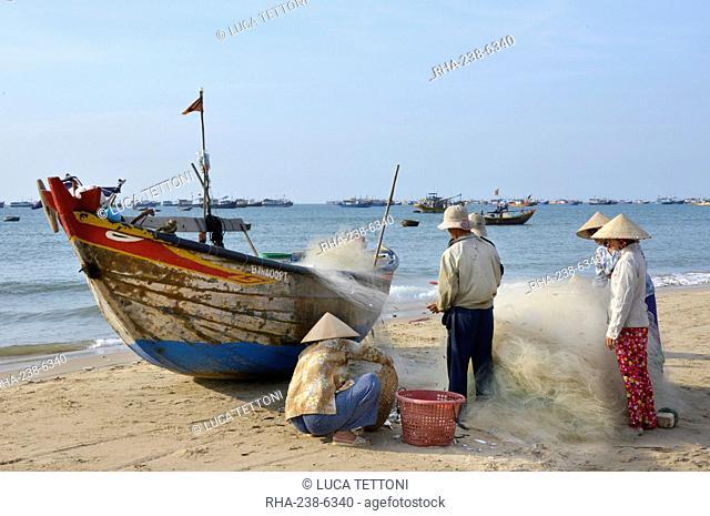 Fishing village, Mui Ne, Vietnam, Indochina, Southeast Asia, Asia