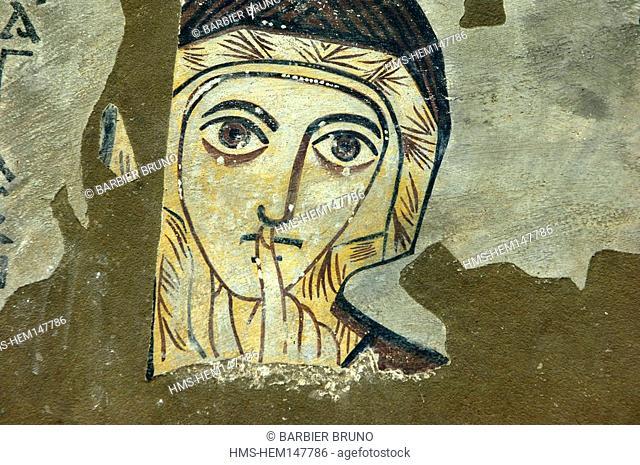 Sudan, High Nubia, Al Khartum Province, Khartoum city, Sainte Anne, Farras Cathedrale-frescoes and murals from ruined churches