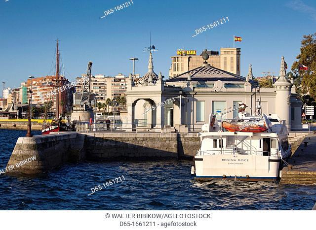 Spain, Cantabria Region, Cantabria Province, Santander, Estacion Maritima, harbor ferry terminal