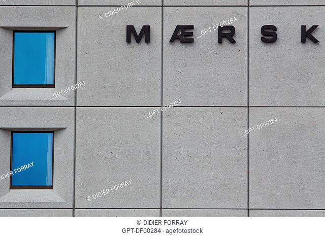 FACADE OF THE HEADQUARTERS OF THE MAERSK CORPORATION, WORLD MARITIME TRANSPORT GROUP AND OWNER OF CONTAINER BOATS, THE BIGGEST DANISH, COMPANY, COPENHAGEN