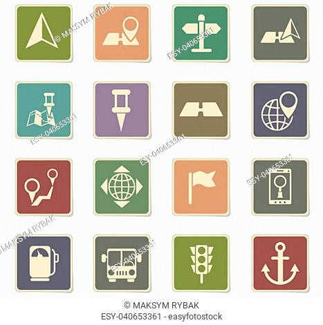 navigation vector icons for web and user interface design