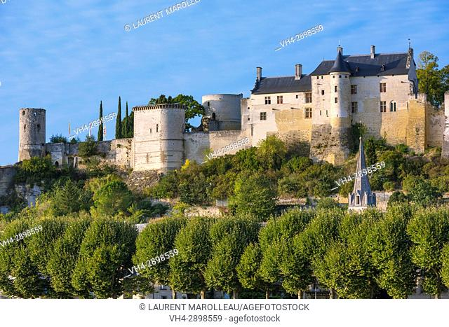 The Royal Fortress of Chinon. Indre-et-Loire, Central Region, Loire Valley, France, Europe