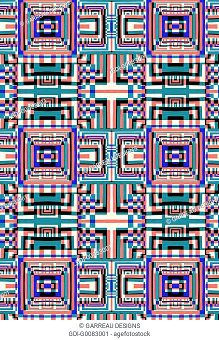 Repeating pattern of geometric shapes